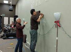 Installing Acoustic Panels (Jan. 13 & 23, 2018)