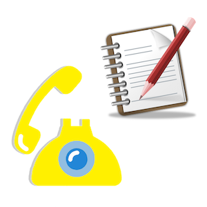Telephone and Notepad