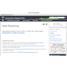 Safe Reopening - SD County